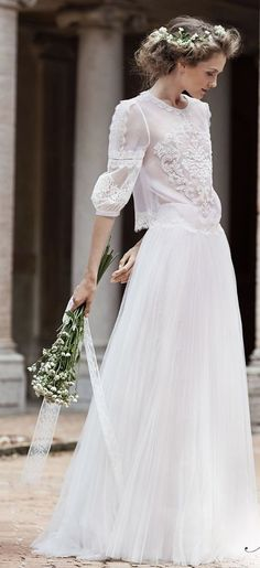 Wedding dress idea; Featured Dress: Alberta Ferretti