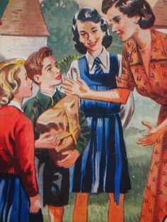 Children's Book Illustration, Happy Family, Yarns, Childrens Books, Scrap, Old Things, Teacher, Coffee, School