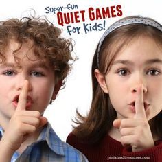 Quiet games for kids are perfect when you need some extra quiet around the house or in a public place. These games will keep your kids happy and quiet! School Games For Kids, Games For Kids Classroom, Sunday School Games, Games To Play With Kids, Group Games For Kids, Class Games, Kindergarten Games, Preschool Games, Children Crafts