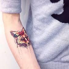 Resultado de imagem para tattoo fox geometric