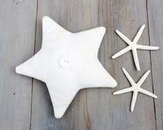 Vintage White Linen Lavender Sachet, Star/Starfish, Beach Cottage Decor