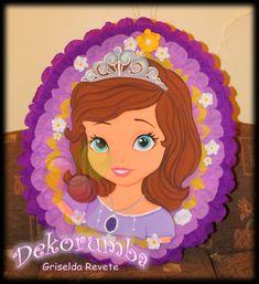 piñatas princesa sofia Birthday Pinata, Princess Peach, Disney Princess, Sofia The First, Ideas Para Fiestas, Tinkerbell, Mickey Mouse, Aurora Sleeping Beauty, Paper Crafts