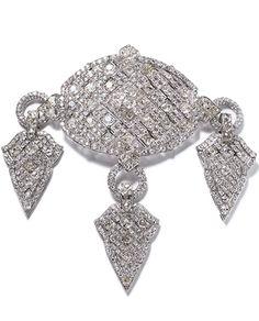BAZUBAND UPPER ARM BRACELET CARTIER PARIS FOR LONDON, SPECIAL ORDER, 1922 Platinum, old-cut diamonds