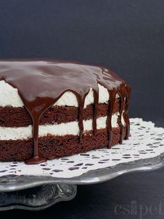 Csokis túrótorta-túrós csokitorta, szülinapra, gyertyákkal megtűzdelve. Nagyoncsokis, antifitnessz, finooom. Viviennek. Puszi. :)      A to...