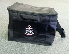 Anchor Monogrammed Cooler by WhoDeyPromotions on Etsy, $24.50