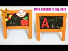 YouTube Cute Teacher's day card/handmade blackboard card making/paper Craft for kids/ greeting card for techer Paper Crafts For Kids, Easy Crafts For Kids, Diy For Kids, Diy Crafts, Teachers Day Card, Teacher Cards, Cardmaking And Papercraft, Teachers' Day, Blackboards