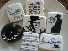 Cookie Art ~ Frank Sinatra decorated iced sugar cookie collection | Cookie Connection