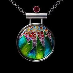 Cloisonné Enamel Pendant by Shanna Thomas. Jewelry photography by Steve Rossman