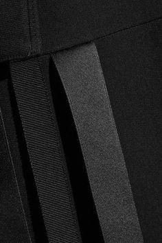 Helmut Lang - Fringed Stretch-cady Maxi Skirt - Black - US12