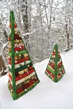 Diy Quilted Christmas Gifts, Christmas Fabric Crafts, Christmas Tree Pattern, Christmas Sewing, Diy Christmas Tree, Christmas Holidays, Christmas Crafts, Christmas Wishes, Homemade Christmas