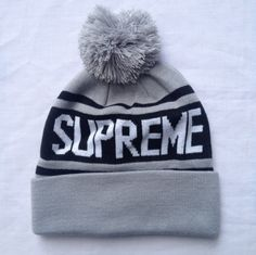 SUPREME Split Beanie White Box Logo camp safari garçon F//W 13