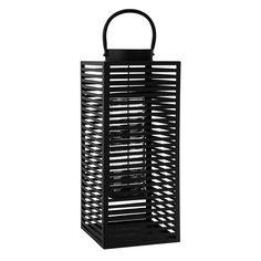 Laterne ELVA aus Metall, H 61 cm, schwarz