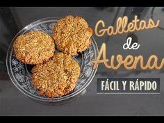 GALLETAS DE AVENA (Solo 2 ingredientes) FÁCIL Y SALUDABLE!