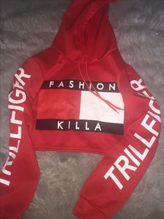 1fccc2469f9 Fashion Killa Hoodie  40 free shipping-Tommy Girl-Tommy Hillfiger-Vintage  Clothing-Teen Fashion-90 s Fashion-Cropped Hoodie-Hoodies. Reigning Supreme  ...