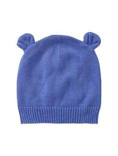 Blue bear sweater hat