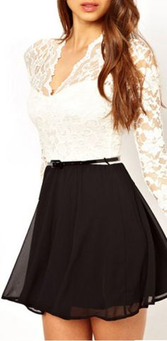 Little Black Lace Dress // #lbd