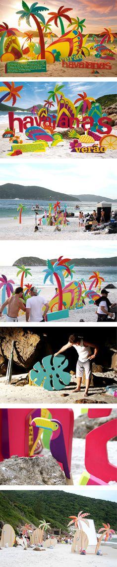 Havaianas - Guerilla marketing - Massive marketing campaign.