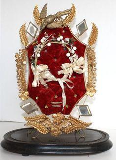 Antique French Wedding Crown Display Globe de Mari  $525.00