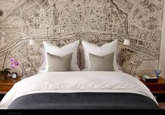Map Headboard! #homedecor #homedecorating #decoratingideas #designideas #designinspiration