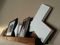 Picture ledge, picture shelf, book shelf, nursery room, rustic picture ledge, chic, farmhouse decor, rustic decor,  made to order Ledge shelf by AlbertsWoodshop1
