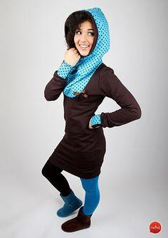Kapuzenkleider - MEKO Sweatkleid 'FUN_7' - ein Designerstück von meko bei DaWanda
