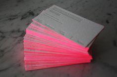 neon business card | #Business #Card #letterpress #creative #paper #bizcard #businesscard #corporate #design #visitenkarte #corporatedesign < repinned by www.BlickeDeeler.de | Have a look on www.LogoGestaltung-Hamburg.de