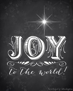 Christmas Printable- Joy to the World - Smitten By...