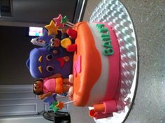 Dora the explorer little girl birthday cake