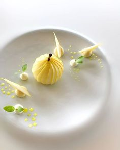 Gourmet Desserts, Plated Desserts, Dessert Recipes, Food Plating Techniques, Food Decoration, Molecular Gastronomy, Cookies Et Biscuits, Creative Food, Food Presentation