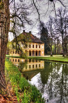 schlosspark oberschleißheim, südpavillon, münchen.