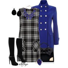 A Little Retro with Military Chic, created by kginger on Polyvore