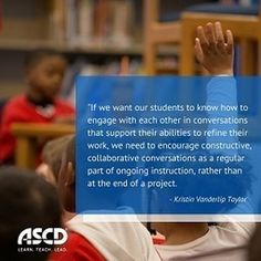 » Teaching Students to Give and Receive Meaningful FeedbackASCD Inservice