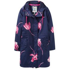 Joules Right as Rain Raina Waterproof Parka, French Navy Tulip ($195) ❤ liked on Polyvore featuring outerwear, coats, french navy tulip, blue parka, waterproof parka, parka coat, navy blue parka and waterproof coat