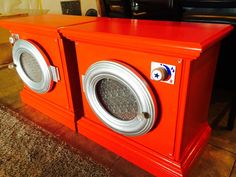 kids play washer and dryer