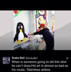 Drake Bell is well-known for hating on Justin Bieber smh