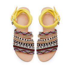 ETHNIC FLAT SANDALS - Shoes - Woman - ZARA United States