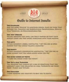 Guide to Internet Insults