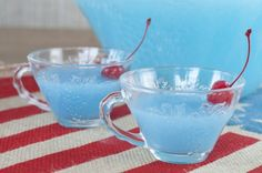 Blue Piña Colada Party Punch | Wishes And Dishes. Baby Shower ...
