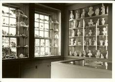 1976 Black and White photo of the new Durand Room at Atwood House Museum, Chatham, MA. #sandwhichglass, #seashell, #parianware, #chathamhistoricalsociety, #atwoodhouse, #chatham, #capecod, #durandroom