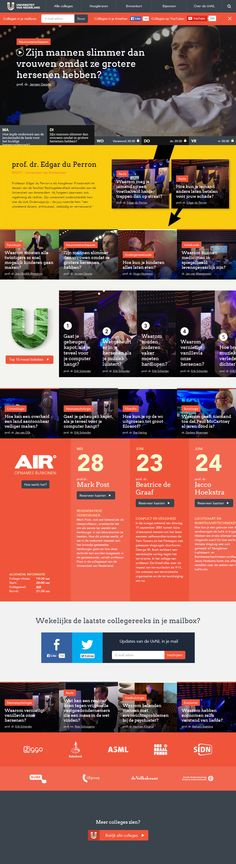 The best online courses of the best Dutch professors. Web Design Awards, Web Design Trends, App Design, Web Grid, News Website Design, Best Online Courses, Media Web, Ui Web, Web Layout