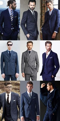 Men's Striped Suits Outfit Inspiration Lookbook