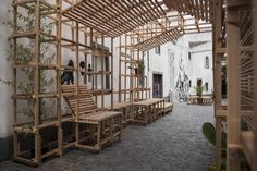 Gallery of Orizzontale Activates the Street with Wooden Intervention in the Azores Islands - 15