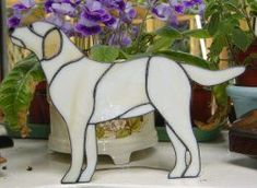 Labrador - Click Image to Close Stained Glass Angel, Stained Glass Ornaments, Making Stained Glass, Stained Glass Christmas, Stained Glass Suncatchers, Faux Stained Glass, Stained Glass Designs, Stained Glass Projects, Stained Glass Patterns
