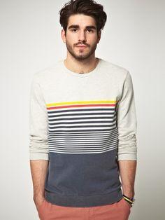 Sweatshirt With Graduated Stripes