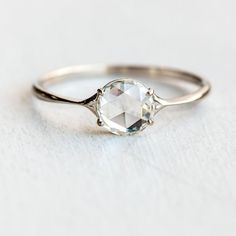 The Diamond Corset ring: a stunning rose cut diamond set in a delicately tapered… - Rings Jewelry Ring Verlobung, Rose Cut Diamond, Diamond Rings, Engagement Ring Settings, Gold Bands, Ring Designs, Bling Bling, Fine Jewelry, Cheap Jewelry