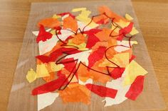 Autumn Leaves Suncatcher craft