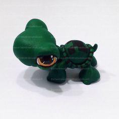 Littlest Pet Shop Turtle Toy  Custom OOAK LPS by RetroDollsUS
