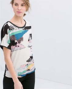 Image 4 of COLORED T-SHIRT from Zara