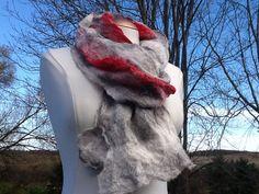 fashion scarf beautiful wool scarf red silk by Royalpaca