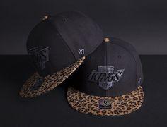 "'47 BRAND x NHL ""Leopard Logo"" Snapback Caps"